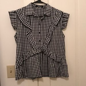 NWOT Women's Sugarlips gingham top, size M